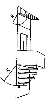 Схема размеще-ния дымового канала под наве-сом или балко-ном